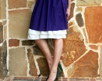 Extender Slip: Layered Chiffon Ruffle Underskirt - Also Available in BLACK and CHOCOLATE