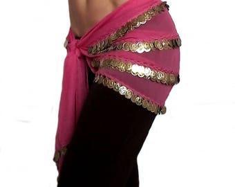 Scarf belt Fuchsia style belly dance Eastern