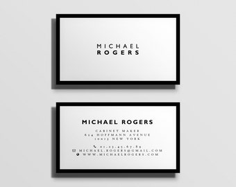 printable business card template, fully customized calling card template, business stationery, minimal typographic business card [10]