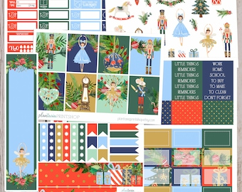 The Nutcracker, 6 to 8 pages, Sidebar, for use with Erin Condren Lifeplanner, Happy Planner, Full Box, Headers, Classic Christmas, Ballet