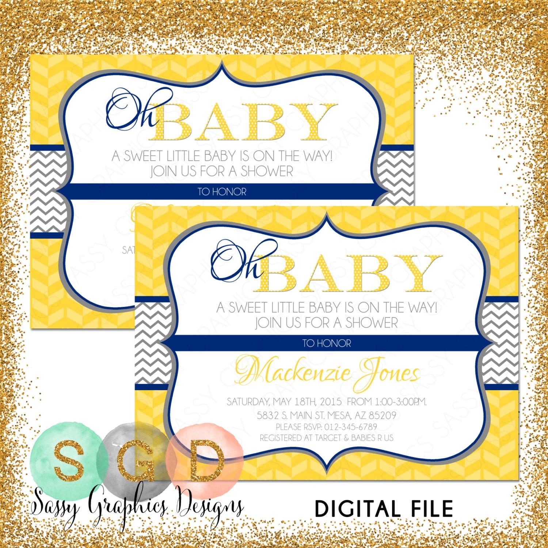 Gender Neutral Baby Shower Invitation Baby Neutral