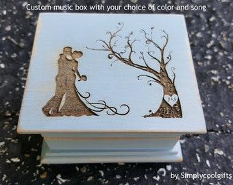 wedding gift, for bride, music box, custom music box, anniversary gift, personalized, personalized music box, music box shop, valentines day