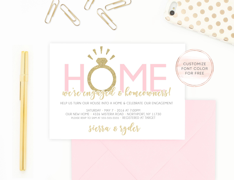 Einladung Zur Verlobung Housewarming Party Einladung Unser