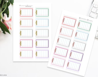 Pastels with Glitter   Clipboard boxes   Printable Planner Stickers   Happy Planner