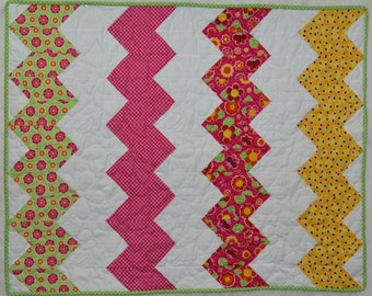 Pre-Cut Crib Quilt Kit - Patrick Lose and Kona Fabrics - Precision Chevron Shapes already cut.  Get Sewing Rosie's Garden Faster!