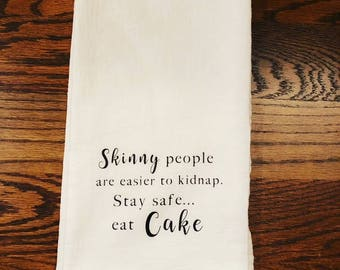 Funny Kitchen Towel, Christmas Gift, Funny Kitchen Towel, White Elephant Gift, Cake Lover Gift, Funny Christmas Gift, Kitchen Towel humor