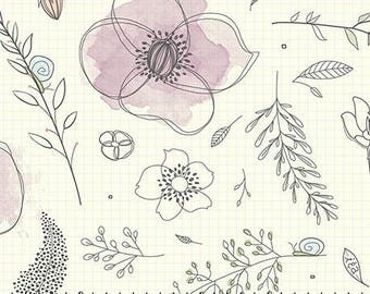 Ink & Arrow by Quilting Treasures - Gnome Matter What - Sketchbook Garden - Natural