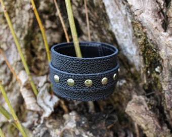 black leather strap. wrist strength; Bracelet of strength; Black Leather Bracelet (18/30)
