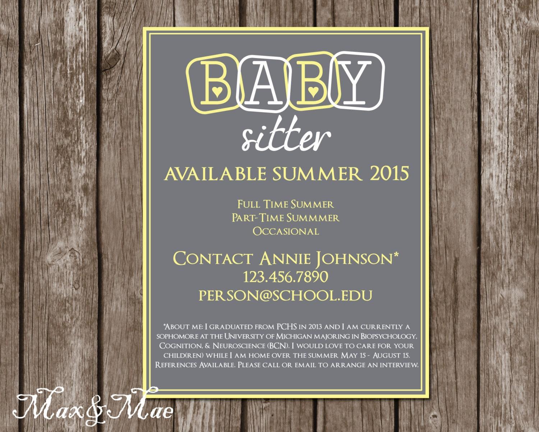 make a babysitting flyer online free