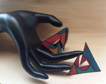 Triangle, Spiral, Funky Ear Studs, Odd Earrings, Handmade Accessories, Jewelry Art, Art Jewelry, Earrings Funky, Jewelry Fashion