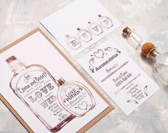 Apothecary Wedding Invitation - Invite Suite sample