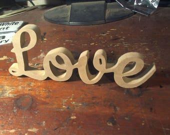 free standing Love word