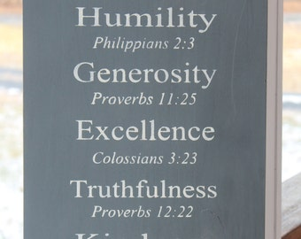 Family Values Wood Sign, Christian Family Rules, Family Rules Wood Sign, Bible Verses Sign, Christian Values sign, Family Values sign
