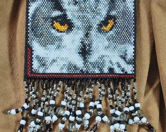 white owl amulet bag