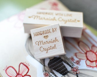 Custom Stamp - Handmade By - Customized Stamp - Personalized - Shop Stamp