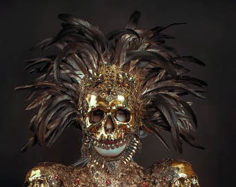 Golden Skull Mask - Ready Made