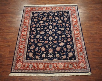 8X10 Persian Tabriz Hand-Knotted Wool Area Rug New Oriental Carpet (7.11 x 10.2)