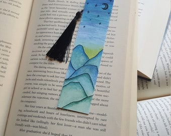 Beautiful Handmade Mountains Bookmark