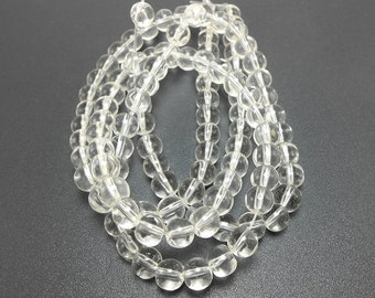 52 Clear Glass Beads 6MM round beads (H2389)