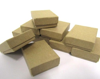 Kraft boxes - 20 count (2.5 x 1.5 x 1) Cotton Filled Jewelry Boxes