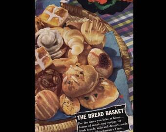 The Bread Basket - Vintage Cookbook c. 1943