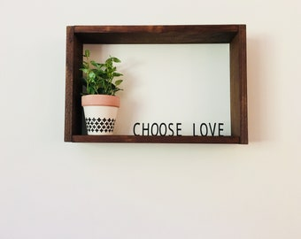 Floating Letter Board | Letter Board | Wall Decor | Wall Sign | Home Decor | Wall Hanging | Wall Planter | Shelf | Shadow Box | Wood Box