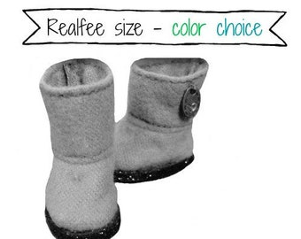 REALFEE BOOTS:  Choice of COLOR for your original m.e.g.designs boots fitting Fairyland Realfee