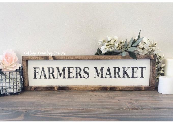 Farmhouse sign - Farmers Market sign - farmhouse decor - farmhouse kitchen - farmhouse kitchen decor - kitchen decor - home decor - farmhous