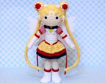 Amigurumi Doll Anime : Sailor moon plush amigurumi doll crochet pattern only