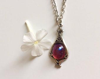 Silver Opal Necklace, Silver Opal Jewelry, Opal Necklace, Opal Pendant Necklace, Silver Opal Pendant, Fire Opal Necklace, Fire Opal Pendant