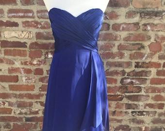 My Blue Belle Strapless Prom Dress Bridesmaid