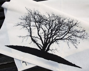 Winter Oak Tea Towel