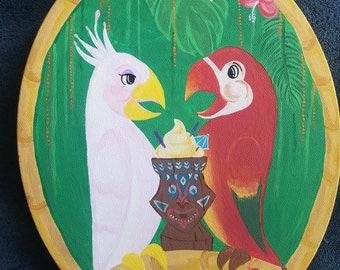 Disney inspired Tiki room canvas painting