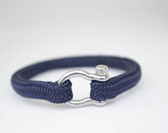 NAVY BLUE & silver | Sailing bracelet - Custom and Handmade