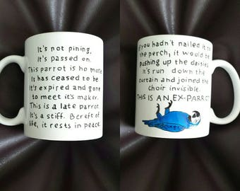 Hand Painted mug inspired by Monty Python's Flying Circus
