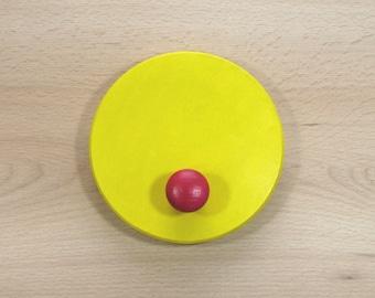 Circle coat peg (single) - nursery coat hook - children's coat hook - wooden coat peg - colour of your choice