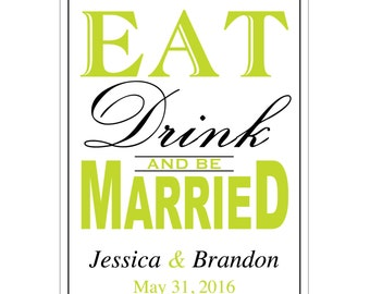 84 - 2x2.67 inch Custom Wedding Rectangle or Mini Wine Bottle Labels - hundreds of designs - change designs to any color, wording etc WN021