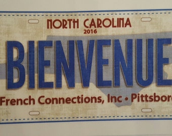 2016 French Connections Row by Row Experience Fabric License Plate