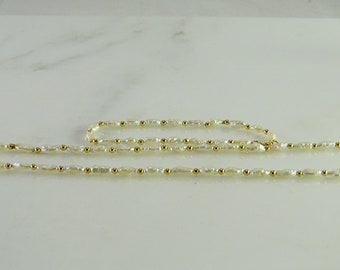 14K Gold /Pearl Necklace and Matching Bracelet