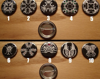 """Organic Swarm 1.25 """"Graphic Button Set (5 Buttons)"""