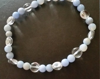 Genuine Gemstone Elasticated Bracelet