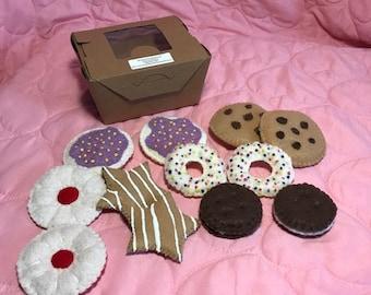 Tasty Tots Felt Play Food 1 Dozen Cookie Set