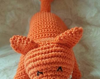 Stuffed Fox toy - soft and cuddly plush fox handmade: cat, child gift, toys, handmade