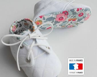 CLEARANCE SALE! Baby quilted and liberty Betsy porcelain (baby shoes)