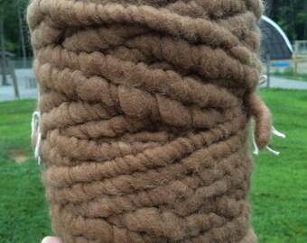 100 % Alpaca Fawn Core Spun Yarn