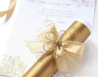 Wedding invitations scroll roho4senses wedding invitations scroll filmwisefo