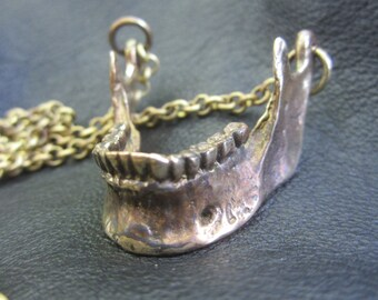 Human Jaw Bone Pendant