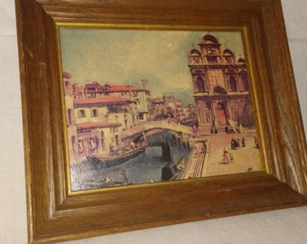 Framed Place At Venice by Canaletto fine art print