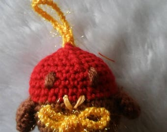 Hand Crocheted Christmas Robin - Tree Ornament