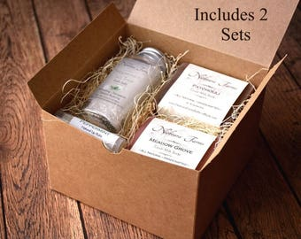 Gifts for Women - 2 Personalized Gift Sets for Women - Gift for Mom - Gift for Her - Natural Bath Gift Set - Bridesmaid Gifts - Spa Gift Set